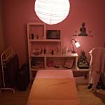Salle de massage au gîte et chambres d'hôtes d'En Lanet