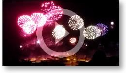 Feu d'artifice à la cité de Carcassonne le 14-07-2015