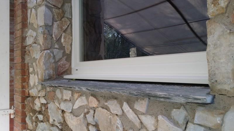Chambres d'hôtes : détail de la fenêtre finie