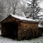 Four à pain sous la neige