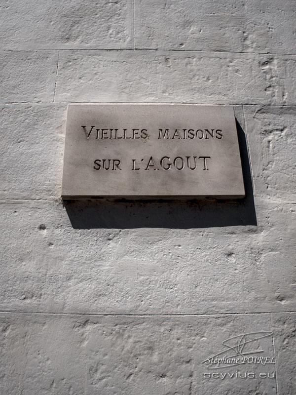 Plaque vieilles maisons sur l'Agout à Castres