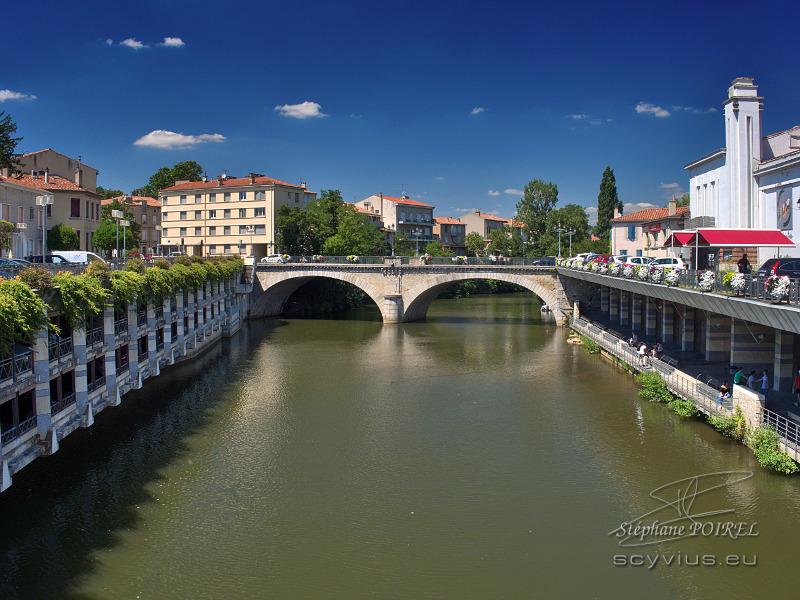 La rivière Agout traversant Castres