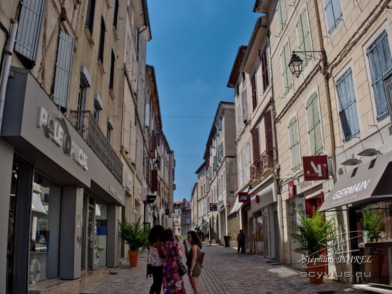 Rue piétonne à Castres