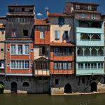 Vieilles façades sur l'Agout dans Castres