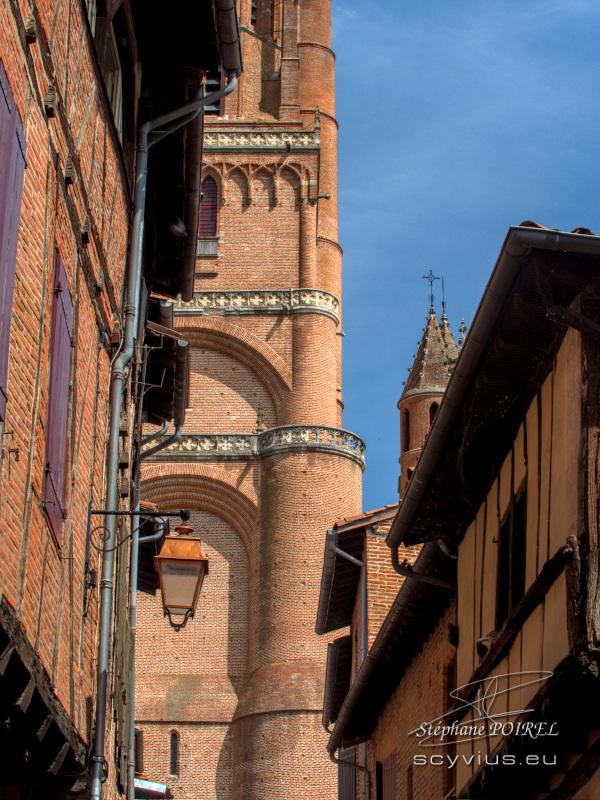 Détail de la cathédrale Sainte-Cécile à Albi