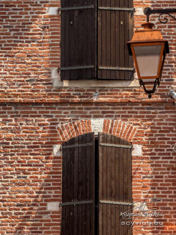 Façade de brique du vieux Albi