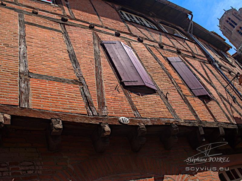 Façades quartier Castelviel d'Albi