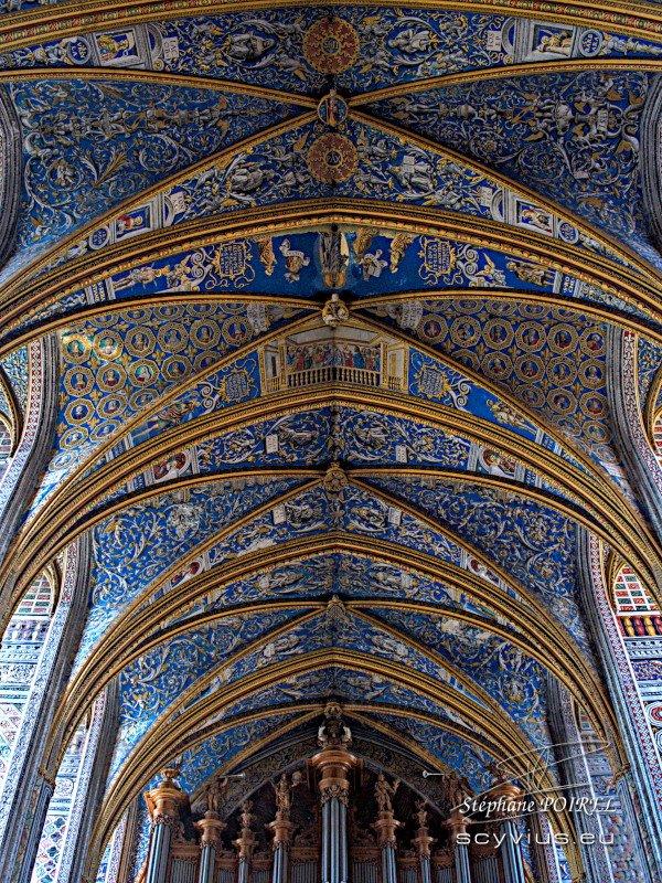 Plafond de la cathédrale Sainte-Cécile à Albi