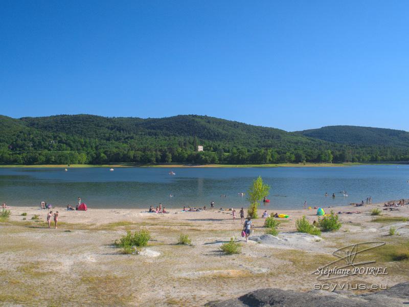 Plage du lac de Saint-Ferréol